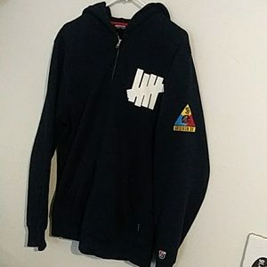 Undefeated navy heavyweight hoodie Large